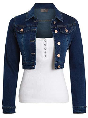 SS7 Jeansjacke aus Stretch für Damen Gr. 38, Indigo