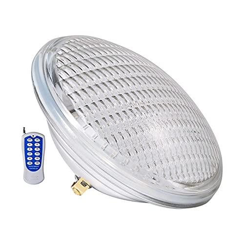 GHHZZQ Lámpara LED Colorida para Piscina 12V IP68 A Prueba de Agua Bombilla Par56 Luz LED Subacuática por Jardín Estanque Cuadrado Fuente (Color : 1-Warm White, Size : 6w)