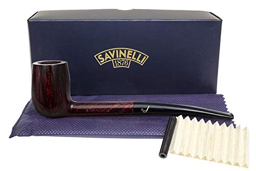 Savinelli Italian Tobacco Smoking Pipes, Bing's Favorite Smooth 6mm