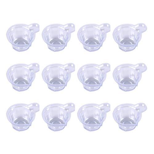 HEALLILY Vasos de Mezcla de Epoxi 100 Piezas Taza de Medir Transparente de Plástico para Pintura Epoxi de Resina Taza de Agitación de Mezcla Desechable de Bricolaje 40 Ml