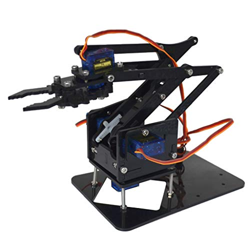Tongina 4-Dof Tank Robot Chassis & Mechanical Arm for , DIY Assembled Robotic Arm Kit for Kids & Adults