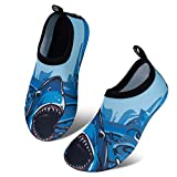 IceUnicorn Kinder Strandschuhe Jungen Mädchen Schwimmschuhe Aqua Schuhe Baby Badeschuhe für Beach Pool Surfen Yoga Unisex(Großer Hai, 24/25EU)