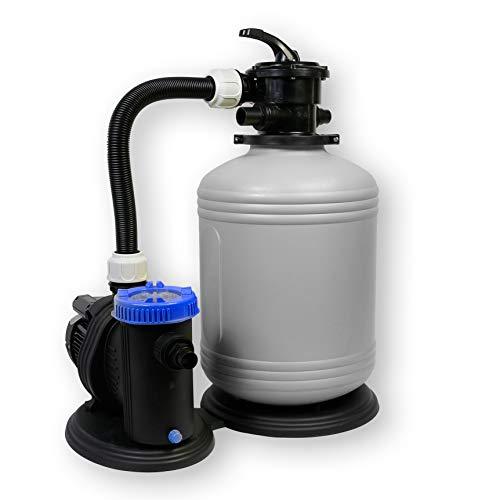 Sandfilteranlage 390/6 Pool Schwimmbecken Sand Filter Filteranlage Pumpe 6m³/h SHOTT International