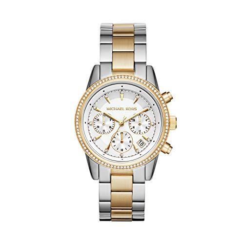Michael Kors Reloj Cronógrafo para Mujer de Cuarzo con Correa en Acero Inoxidable MK6474