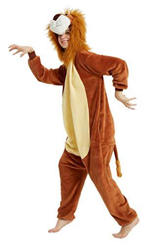 FunnyCos Pijama unisex de animal, para adultos, Halloween, cosplay, con capucha, ropa de salón El...