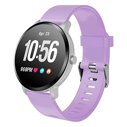 kkart Bingofit Heart Rate Monitor iOS Android Smart Bracelets Waterproof Women's Pedometer Watch Pressure Multi Sports Tracker  Purple