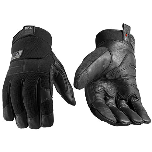 FX3 Men's HydraHyde Leather Palm Winter Work Gloves, Large (Wells Lamont 7854)