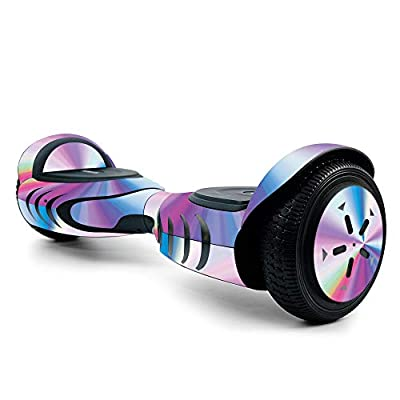 MightySkins Skin for Tomoloo Hoverboard Self Balancing Scooter - Rainbow Zoom | Protective, Durable, and Unique Vinyl Decal wrap Cover | Easy to Apply, Remove, and Change Styles | Made in The USA
