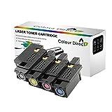 Colour Direct 4 X Compatible Cartucho de tóners para DELL 1250c 1350cnw 1355cn...