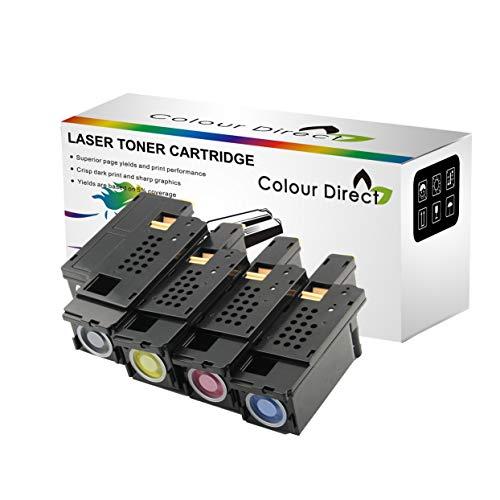 Colour Direct 1250C Compatible Toner Cartridges For Dell 1250c 1350cnw 1355cn 1355cnw C1760 C1760nw C1765 C1765nfw Printers (Dell 593-11016 11021 11018 11019) - 4 Pack (1 Set)