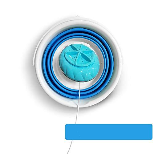 GLBS Falteimer Ultraschall Tragbare Waschmaschine Maschine Mute Faux Hand Scrub Pulsator Kleidet Unterlegscheibe Vollautomatische Geplante Shutdown Mini-Waschmaschine (Color : 24W)