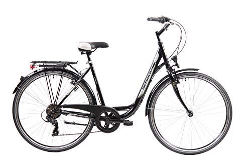 "F.lli Schiano EleganceS Bicicleta de Ciudad, Mujer, Negro, 28"""