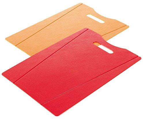 KUHN RIKON 22078 - Set de 2 Tablas de Cortar, 38 x 22 cm, Color Naranja y Rojo