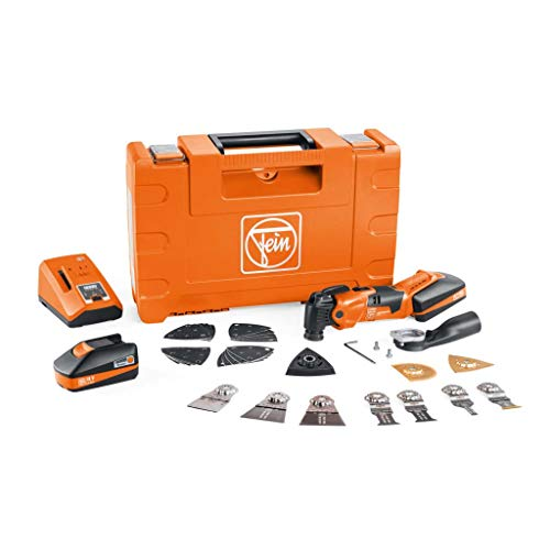 Fein Cordless MultiMaster AMM 500 Plus Top Kit Oscillating Multi-Tool with StarLockPlus Mount and QuickIn System - 18V, 3 Ah, 11,000-18,500 OPM - 71293361090