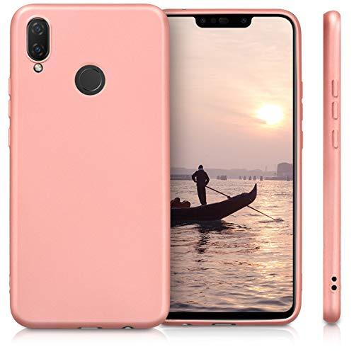 kwmobile Huawei P Smart+ (2018) / Nova 3i Hülle - Handyhülle für Huawei P Smart+ (2018) / Nova 3i - Handy Case in Metallic Rosegold - 5