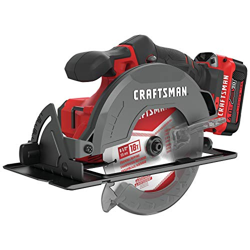 CRAFTSMAN V20 6-1/2-Inch Cordless Circular Saw Kit (CMCS500M1)