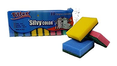 Foto di Spugna Abrasiva Colorate, 10 pezzi, Colori Assortiti