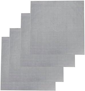 Bluelans® Lot de 4 feuilles de protection anti-adhésives réutilisables pour plaques de cuisson à gaz Argenté 27 x 27 cm