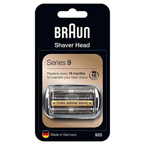 Braun Series 9 92S Testina di Ricambio per Rasoio Elettrico Uomo, Argento, Compatibile con i Rasoi Series 9
