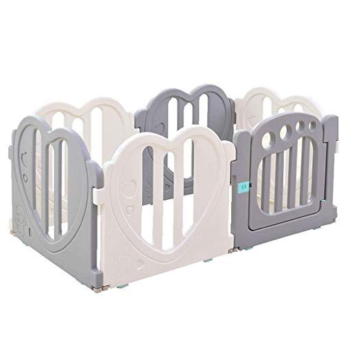BGSFF Valla para niños, Parque para niños Barrera de Seguridad Espacio de Juego de plástico Sala de Juegos Centro de Actividades para niños Barandilla Valla (Color: Paneles B-6)