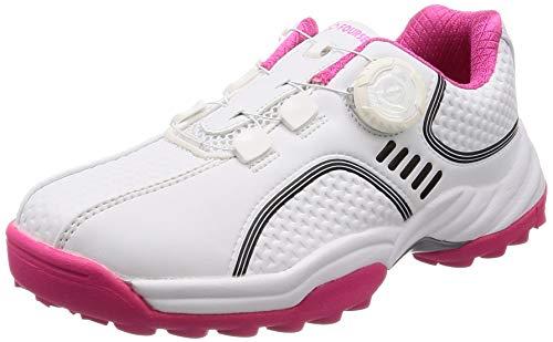 [フォーセンス] ゴルフ スパイクレス ダイヤルシューズ スポーツシューズ トレッキングシューズ 登山靴 レディース FOSN-002L ホワイト 23.5 cm