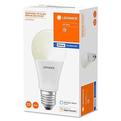 Osram Smart+ - Lampadina a forma di lampadina Bluetooth Parathom 9 Watt E27, opaca, CLA60, dimmerabile