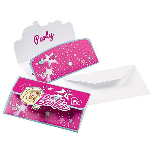 amscan 999934Barbie Sparkle Stand-up Einladungen Karten und Umschläge