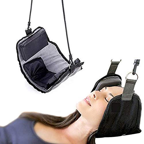 GOUPPER Draagbare Hangmat voor Nek Pijnverlichting, Cervicale Neck Massagers om Hoofdpijn te verminderen Gemakkelijk te gebruiken thuis, slaapkamer, kantoor