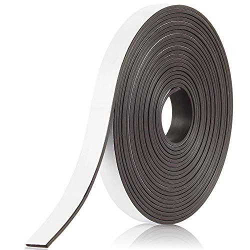 BOWMAN Premium Magnetband | Stark, selbstklebend, magnethaftend und individuell zuschneidbar | Magnetklebeband mit kostenlosem Ratgeber (5 m)