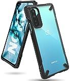 Ringke Fusion-X fürs OnePlus Nord Hülle, Transparent Rückseite mit Verbesserter TPU Silikon Rahmen Schutz für OnePlus Nord - Schwarz