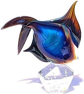 YourMurano, Escultura de pez ángel de cristal de Murano, arte marino decoración del hogar, marca de origen, Dory