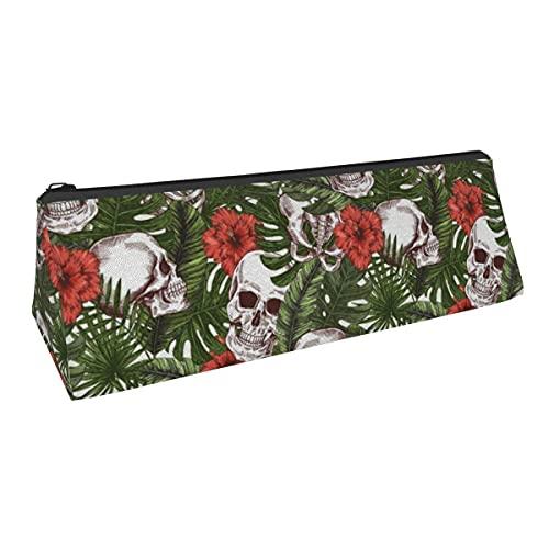 Bolsa de almacenamiento para bolígrafos tropicales de Halloween de pequeña capacidad para niños, niñas, universidad, escuela media, oficina, alicates de papelería