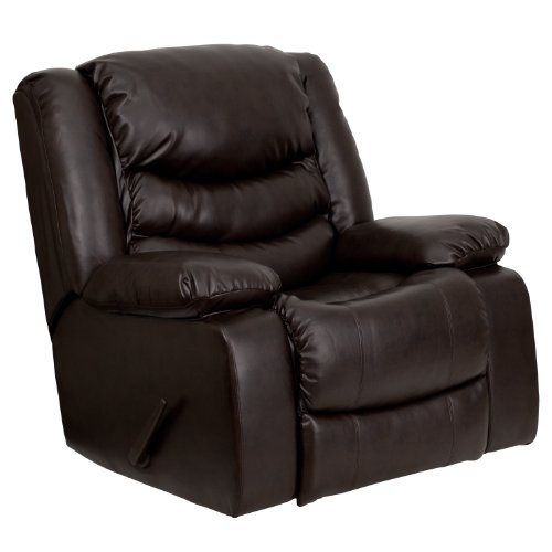 Flash Furniture Plush Brown LeatherSoft Lever Rocker Recliner with...