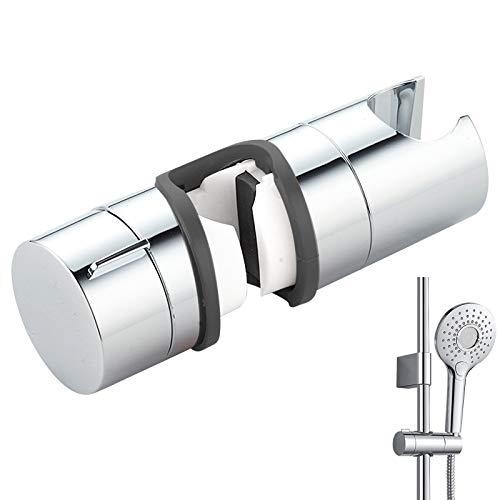 Universal Handbrause Halterung, 18-25 mm Verstellbar Brausehalter Duschhalterung für Handbrause oder Duschkopf, 360° drehbar Brausehalter für Slide Bar, ABS Grade Kunststoff, Verchromt