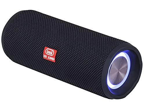 Trevi XR JUMP XR 8A25 Altoparlante Speaker Amplificato con Mp3, USB, MicroSD, Bluetooth, Funzione TWS, Risponditore Vivavoce con Microfono Incorporato, Discolight, Batteria Ricaricabile, nero