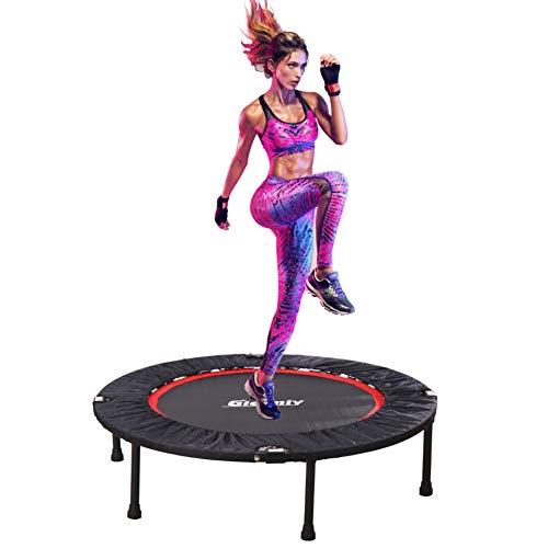 Gielmiy Trampolino Elastico, Trampolino Fitness Pieghevole per Adulti ,Salto Allenamento Cardio Trainer per Allenamento Interno/Esterno,Portata fino a 180kg