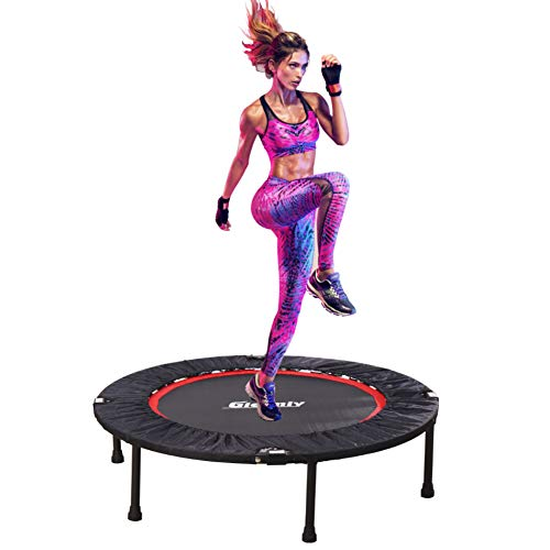Gielmiy 40' Indoor Trampoline,Rebounder Trampoline Exercise Trampoline for Indoor,Garden/Workout Cardio,Foldable Fitness Trampoline for Adults-Max Limit 330 lbs