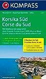 Korsika Süd - Corse du Sud - Weitwanderweg GR20: Wanderkarten-Set mit Aktiv Guide. GPS-genau. 1:50000: 3-delige Wandelkaart 1:50 000 (KOMPASS-Wanderkarten, Band 2251)