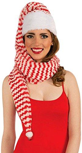 Forum Novelties Women's Santa Cozy Wrap Hat, Red/White, One Size
