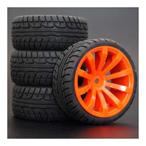 Huanruobaihuo 1 Juego 4PCS Goma RC Neumáticos de Carrera de Coches en la Carretera de Borde de la Rueda en Forma for HSP HPI 1/10 de HSP 94123/94122/94103 / D4 / D3 604 Todos (Color : 604 8003)