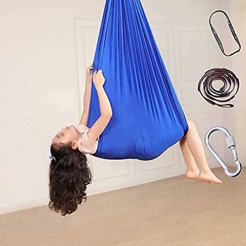 zyy Indoor Therapy Swing For Kids Child And Teens Soft Hammock Swing With Special Needs Children Yoga Sensory Integration Outdoor Camping (Size : 150x280cm/59x110in)