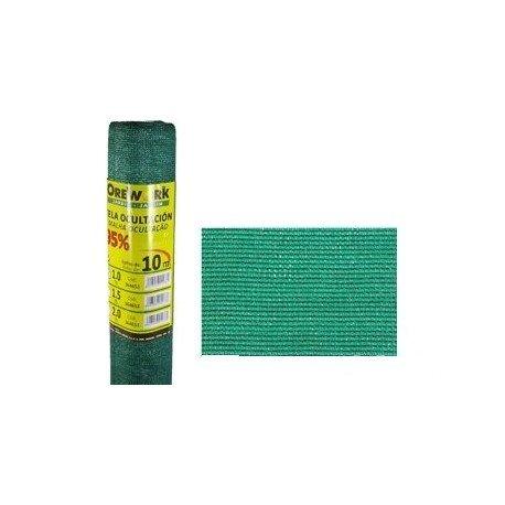 Malla ocultacion verde 95% 1x50mt...