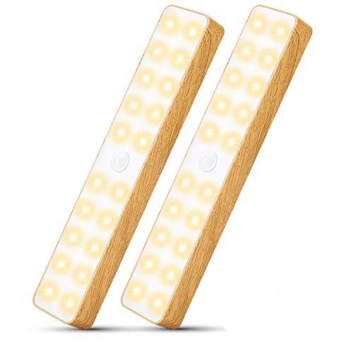 Lámpara LED inteligente, luces con sensor de movimiento, tiras de luz que funcionan con batería, mini luces portátiles para exteriores, luces para acampar, computadora de mano, carga USB
