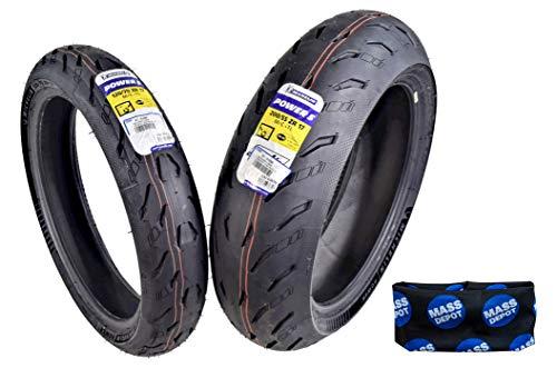 Michelin Pilot Power 5 Radial Sport Bike Motorcycle Tire 120/70-17 200/55-17 (120/70ZR17 Front 200/55ZR17 Rear)