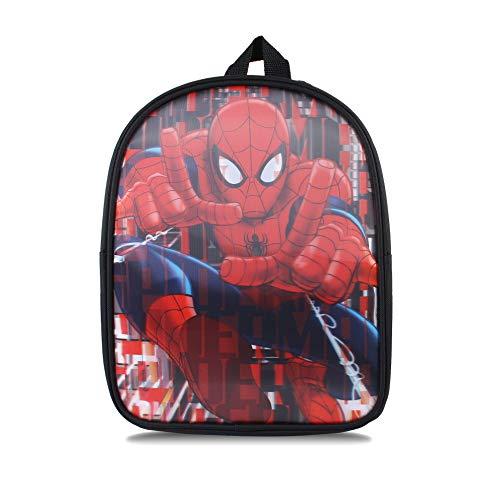 Marvel Comics Spiderman Spray Mochila Infantil 28 Centimeters 6.5 Negro (Black)