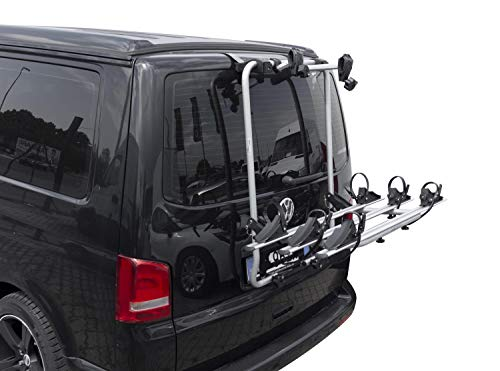Fahrradträger Shadow kompatibel mit VW T6 Multivan Bus Transporter Bulli ab 2015 für 3 Fahrräder Räder Heckträger
