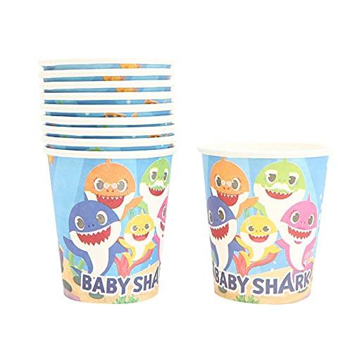 YSJJEFB Globos Decoración de la Fiesta de cumpleaños Baby Globo vajilla desechable Mantel de Tablas de Papel Placa de Papel Regalo de la Fiesta de Bienvenida al bebé ( Color : 10pcs Cup )