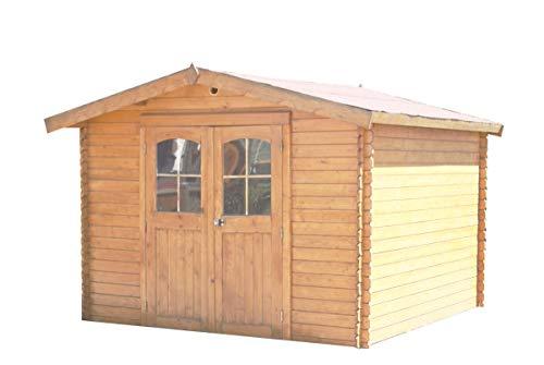 Abri en madriers massifs 28 mm - 10,66 m²