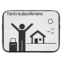 家のような場所はありません動機付けの13-15インチラップトップスリーブバッグポータブルデュアルジッパーケースカバーポーチホルダーポケットタブレットバッグ、耐水性、黒-黒-13インチ