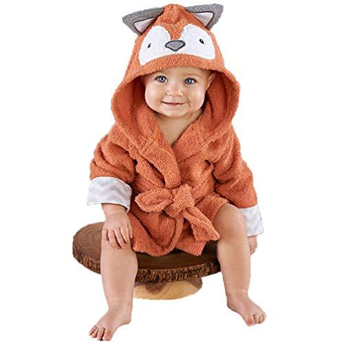 SXSHYUAR Suave Toallas de Baño con Capucha para Bebés, Toallas con Capucha para Bebés, Diseño para Bebés Pequeños - Fox Niños y Niñas - 0-1 Años de Edad De Espesor